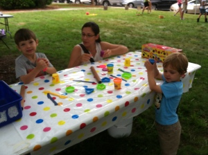 play dough table
